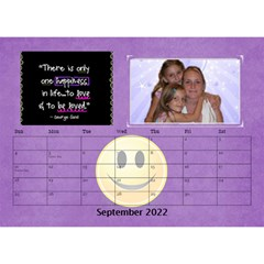 Happy Face Desk Calender By Joy Johns   Desktop Calendar 8 5  X 6    Rtxx9xrpqt77   Www Artscow Com Sep 2016