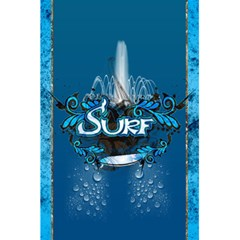 Surf, Surfboard With Water Drops On Blue Background 5 5  X 8 5  Notebooks by FantasyWorld7