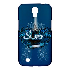 Surf, Surfboard With Water Drops On Blue Background Samsung Galaxy Mega 6 3  I9200 Hardshell Case by FantasyWorld7