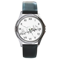 Buffalo / Bison Gift Round Metal Watch