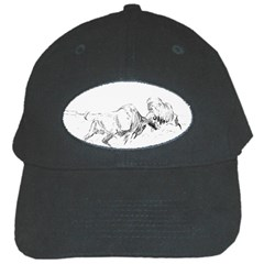 Buffalo / Bison Gift Black Cap by TwoFriendsGallery