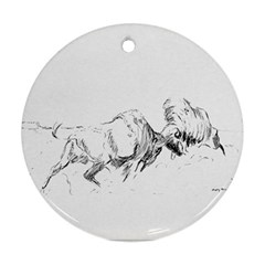 Buffalo / Bison Gift Ornament (round) by TwoFriendsGallery