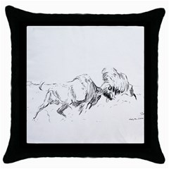 Buffalo / Bison Gift Throw Pillow Case (black) by TwoFriendsGallery