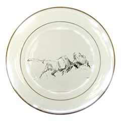 Buffalo / Bison Porcelain Display Plate by TwoFriendsGallery