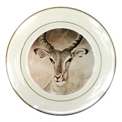Antelope Horns Porcelain Plates by TwoFriendsGallery