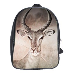 Antelope horns School Bags(Large)  by TwoFriendsGallery