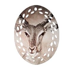 Antelope Horns Ornament (oval Filigree)  by TwoFriendsGallery