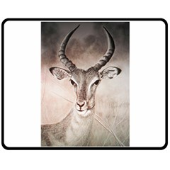Antelope Horns Double Sided Fleece Blanket (medium)