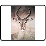Antelope horns Double Sided Fleece Blanket (Medium)  58.8 x47.4 Blanket Front