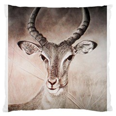 Antelope Horns Standard Flano Cushion Cases (one Side)  by TwoFriendsGallery