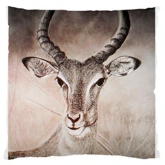 Antelope Horns Large Flano Cushion Cases (one Side)  by TwoFriendsGallery