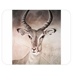 Antelope Horns Double Sided Flano Blanket (medium)  by TwoFriendsGallery