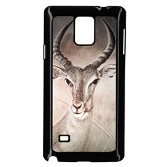 Antelope horns Samsung Galaxy Note 4 Case (Black) by TwoFriendsGallery