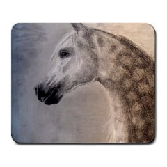 Grey Arabian Horse Large Mousepads by TwoFriendsGallery