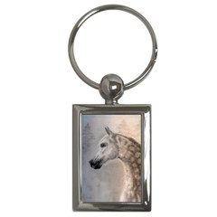 Grey Arabian Horse Key Chains (rectangle)  by TwoFriendsGallery
