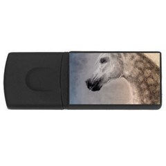 Grey Arabian Horse Usb Flash Drive Rectangular (4 Gb)  by TwoFriendsGallery