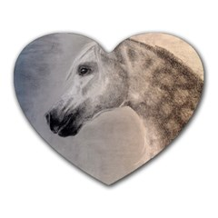 Grey Arabian Horse Heart Mousepads by TwoFriendsGallery