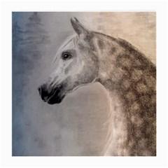 Grey Arabian Horse Medium Glasses Cloth (2 Side) by TwoFriendsGallery