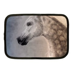 Grey Arabian Horse Netbook Case (medium)