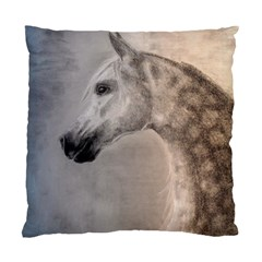 Grey Arabian Horse Standard Cushion Case (one Side)  by TwoFriendsGallery