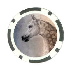Grey Arabian Horse Poker Chip Card Guards (10 Pack)  by TwoFriendsGallery