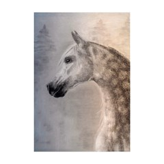 Grey Arabian Horse Shower Curtain 48  X 72  (small)  by TwoFriendsGallery