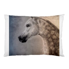 Grey Arabian Horse Pillow Cases (two Sides) by TwoFriendsGallery
