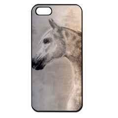 Grey Arabian Horse Apple Iphone 5 Seamless Case (black) by TwoFriendsGallery