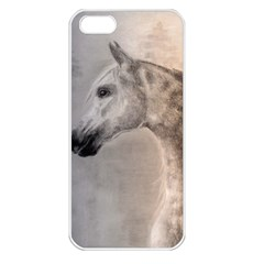Grey Arabian Horse Apple Iphone 5 Seamless Case (white) by TwoFriendsGallery