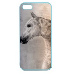 Grey Arabian Horse Apple Seamless Iphone 5 Case (color) by TwoFriendsGallery