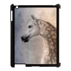 Grey Arabian Horse Apple Ipad 3/4 Case (black) by TwoFriendsGallery
