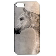 Grey Arabian Horse Apple Iphone 5 Hardshell Case With Stand by TwoFriendsGallery
