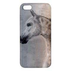 Grey Arabian Horse Apple Iphone 5 Premium Hardshell Case by TwoFriendsGallery