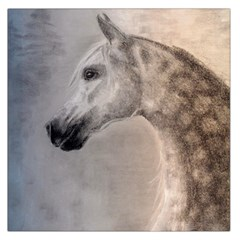 Grey Arabian Horse Large Satin Scarf (square)