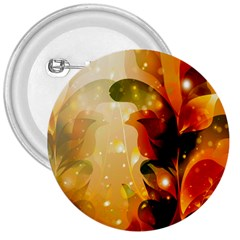 Awesome Colorful, Glowing Leaves  3  Buttons by FantasyWorld7