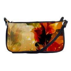 Awesome Colorful, Glowing Leaves  Shoulder Clutch Bags by FantasyWorld7