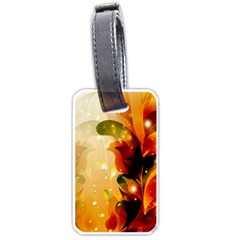 Awesome Colorful, Glowing Leaves  Luggage Tags (one Side)  by FantasyWorld7