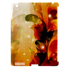 Awesome Colorful, Glowing Leaves  Apple Ipad 3/4 Hardshell Case (compatible With Smart Cover) by FantasyWorld7