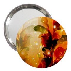 Awesome Colorful, Glowing Leaves  3  Handbag Mirrors by FantasyWorld7