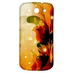Awesome Colorful, Glowing Leaves  Samsung Galaxy S3 S Iii Classic Hardshell Back Case by FantasyWorld7