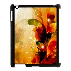 Awesome Colorful, Glowing Leaves  Apple Ipad 3/4 Case (black) by FantasyWorld7