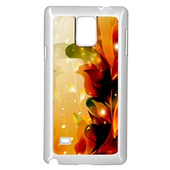 Awesome Colorful, Glowing Leaves  Samsung Galaxy Note 4 Case (white) by FantasyWorld7