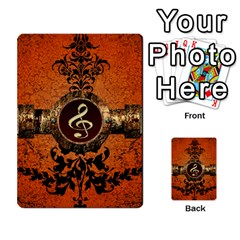 Wonderful Golden Clef On A Button With Floral Elements Multi Purpose Cards (rectangle)
