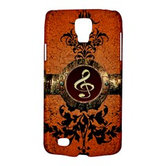 Wonderful Golden Clef On A Button With Floral Elements Galaxy S4 Active by FantasyWorld7