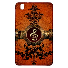 Wonderful Golden Clef On A Button With Floral Elements Samsung Galaxy Tab Pro 8 4 Hardshell Case by FantasyWorld7