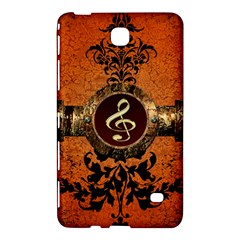 Wonderful Golden Clef On A Button With Floral Elements Samsung Galaxy Tab 4 (7 ) Hardshell Case  by FantasyWorld7