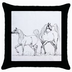 Logosquare Throw Pillow Cases (black) by TwoFriendsGallery