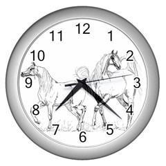 Logosquare Wall Clocks (silver)  by TwoFriendsGallery