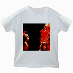 Robert And The Lion Kids White T Shirts by SaraThePixelPixie