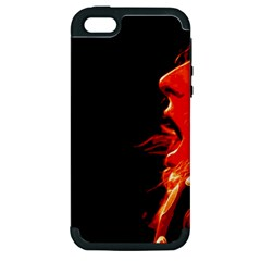 Robert And The Lion Apple Iphone 5 Hardshell Case (pc+silicone) by SaraThePixelPixie